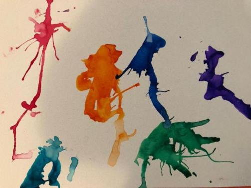 colorful paint splotch background