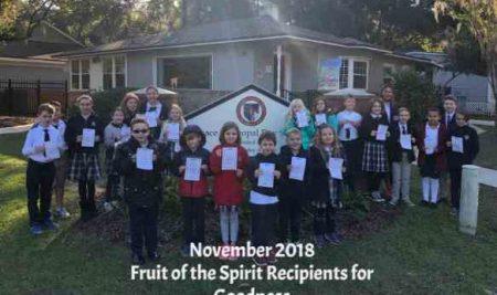 November Fruit of the Spirit Recipients