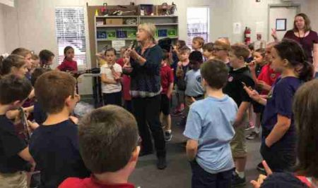 Students Practice for Upcoming Grace Episcopal Day School Sunday