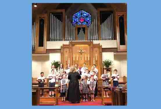 Children's choir and music director at the alter of Grace Episcopal Church