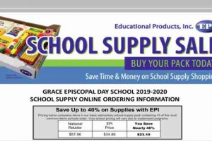 School Supply Sale