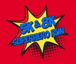 8K & 5K Superhero Run Logo