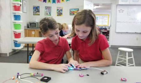 Third Graders Explore with Electronic Building Blocks