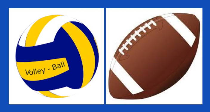 volleyball and football up close