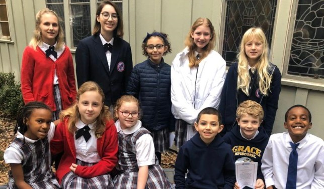 students who received Fruit of Spirit for Kindness award