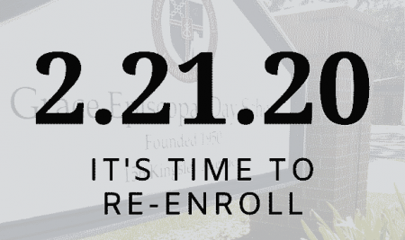 It's Time to Re-enroll!