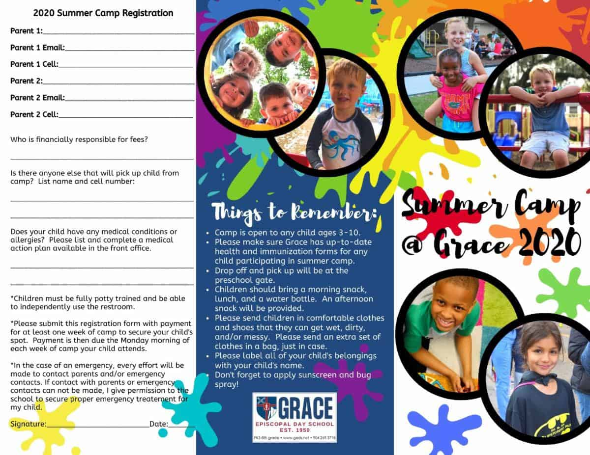 Summer Camp brochure page 1