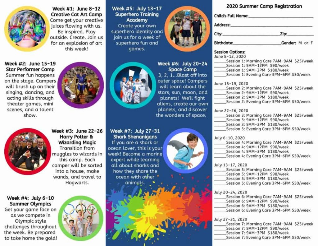 Summer Camp brochure page 2