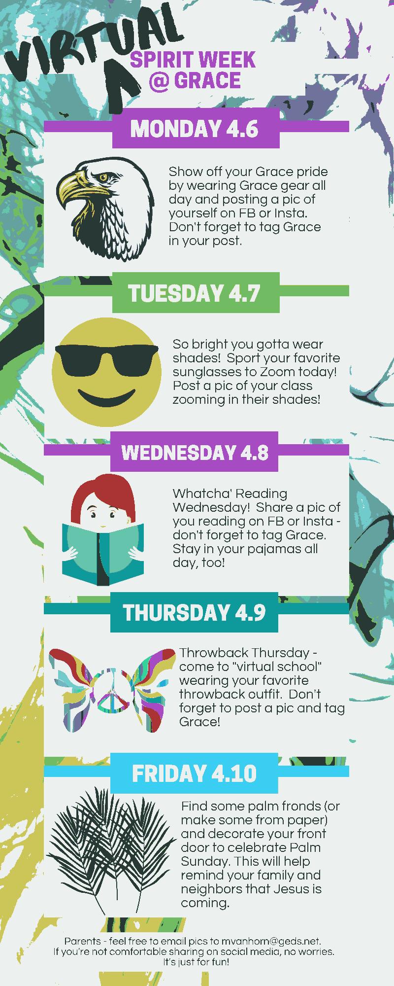 Spirit Week details