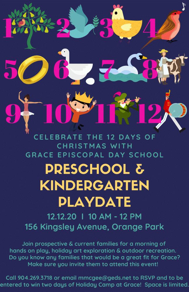 Preschool & Kindergarten event digital invitation