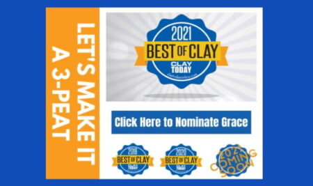 Nominate Grace for 2021 Best of Clay!